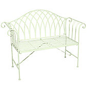Bentley Garden Ornate Wrought Iron Green Garden Bench