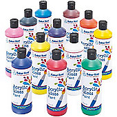 Water-Based Acrylic Paint for Crafts - 175ml Bottles (Multi Pack of 12)