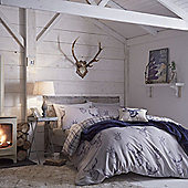 Catherine Lansfield Home Cosy Corner Navy Stag King Size Cotton Rich Quilt Set