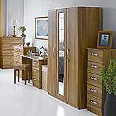 Alto Furniture Visualise Tipolo Three Door Wardrobe in Golden Walnut