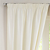 Rectella Sunset Cream Thermal Backed Pencil Pleat Faux Silk Curtains -168x229cm