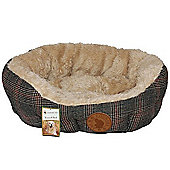 Country Pet Tweed Fur Dog Bed Small 50x40cm