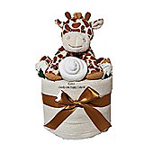 Unisex Baby Nappy Cake with Giraffe