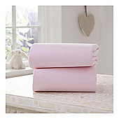 Clair de Lune Fitted Cotton Interlock Sheets - Moses Basket (Pink)