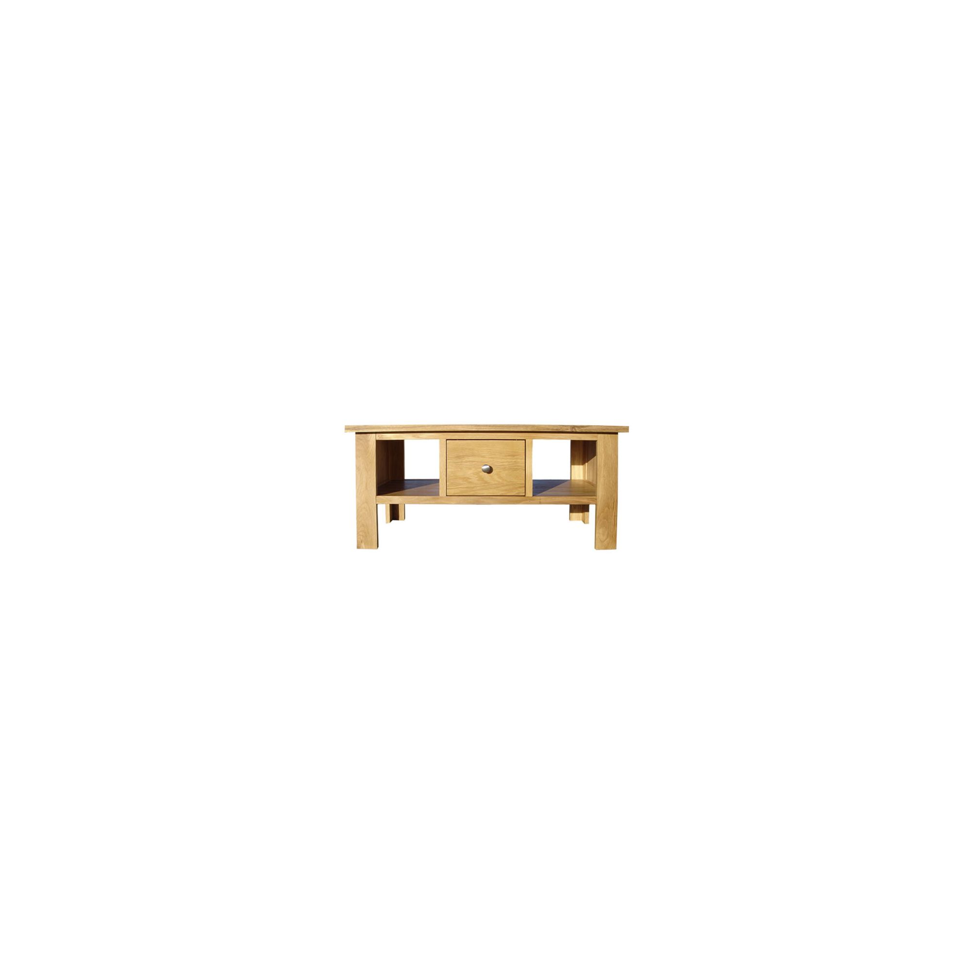 Home Zone Furniture Lincoln Oak 2009 Large One Drawer Coffee Table at Tesco Direct