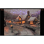Thomas Kinkade Olde Porterfield Gift Shoppe Illuminated Hanging Tapestry