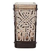 Biba Glass Smoked Glass Tumbler In Black