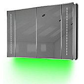 Ambient Bathroom Mirror Cabinet With Sensor & Internal Shaver Socket K71G