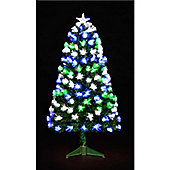 4ft Fibre Optic Starbright Tree with 130 Green, White & Blue LEDs