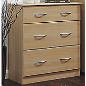 Welcome Furniture Avon 3 Drawer Deep Chest - Light Oak