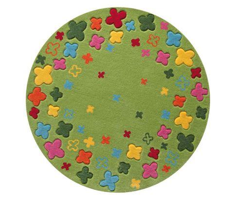 Esprit Bloom Field Green Kids Round Rug