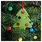 Felt Pom Pom Tree Shape Christmas Tree Decoration