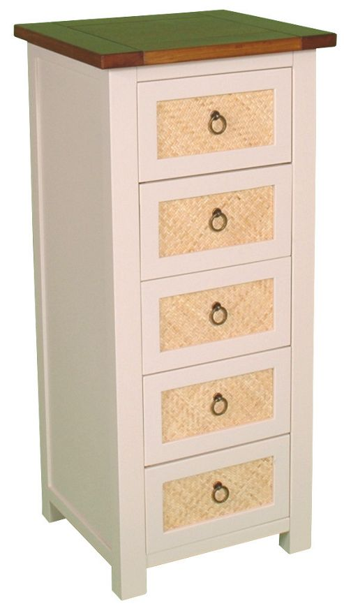 Wiseaction Havana Chest of 5 Narrow Drawer