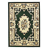 Oriental Carpets & Rugs Marakesh Dark Green Rug - 170cm L x 120cm W