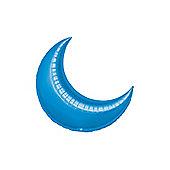 Blue Crescent Balloons - 10' Foil Balloon (5pk)