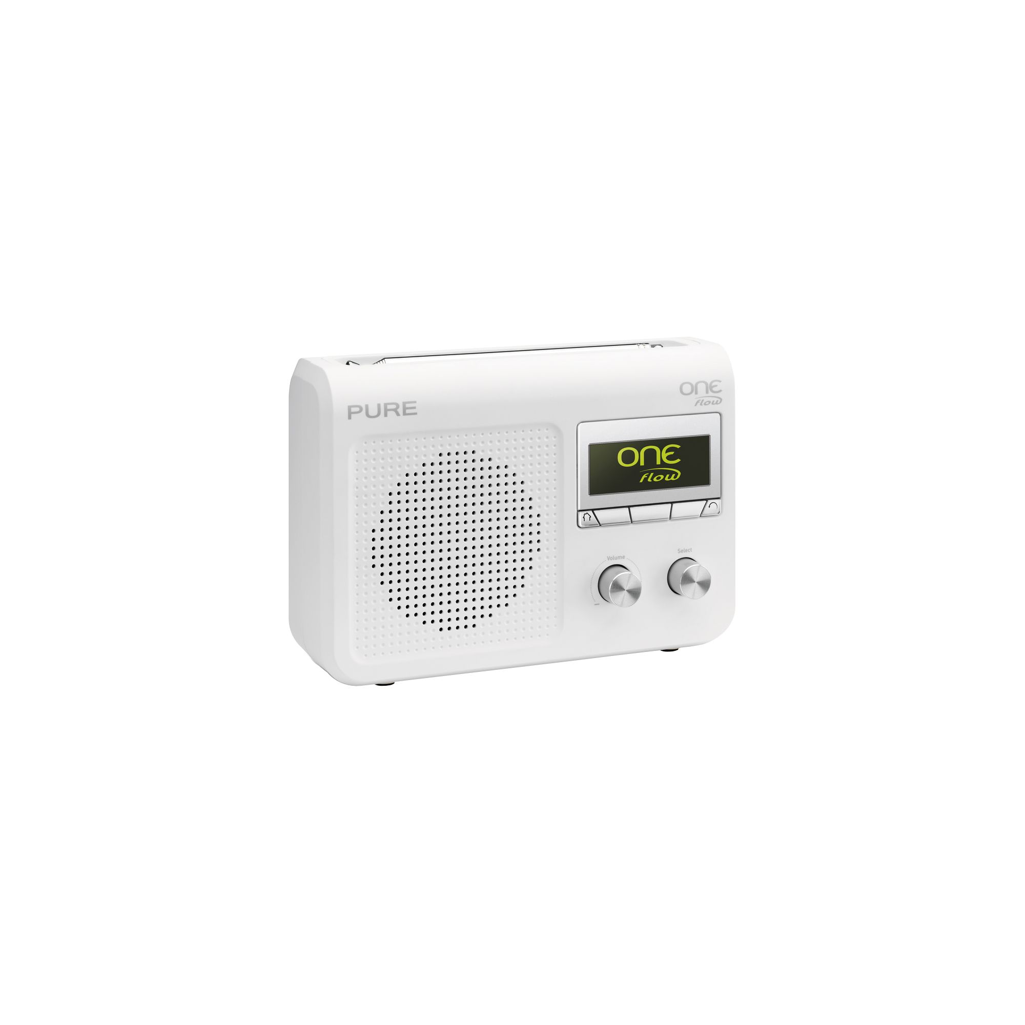 pure one flow dab fm internet radio white best deals on dab radio. Black Bedroom Furniture Sets. Home Design Ideas