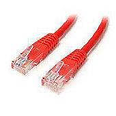 StarTech 15 m Cat5e Moulded RJ45 UTP Cat5e Patch Cable - Red