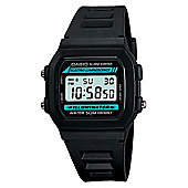 Casio Casio Mens Resin Alarm Day & Date Stopwatch Watch W-86-1VQES