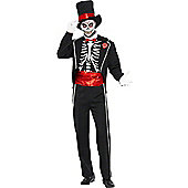 Smiffy's - Day of The Dead - Adult Costume Size: 38-40
