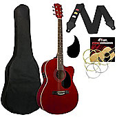 Tiger Red Electro Acoustic Guitar Pack