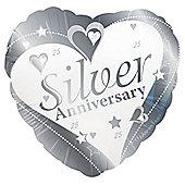 Silver Anniversary 18' Foil Balloon (each)
