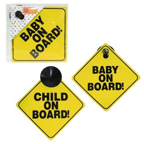 Tesco Baby On Board Sign