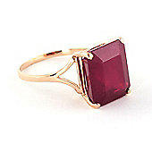 QP Jewellers 6.50ct Ruby Auroral Ring in 14K Rose Gold