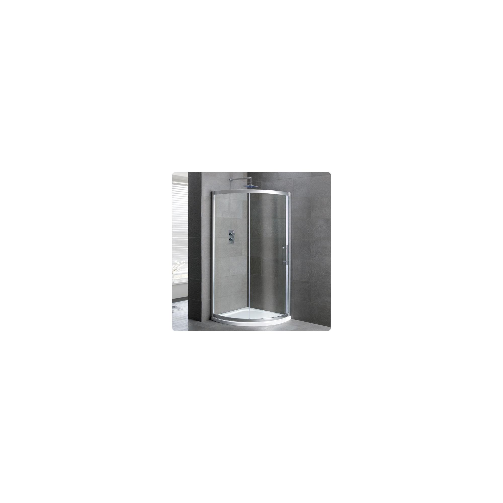Duchy Select Silver 2 Door Quadrant Shower Enclosure 800mm, Standard Tray, 6mm Glass at Tesco Direct