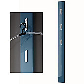 Column - High Gloss Wall Mounted Coat Towel Robe Hanging Hooks - Blue