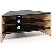 Techlink Riva Light Oak/Black TV stand for up to 50 inch