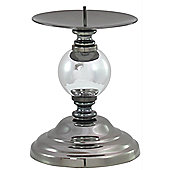 Urbane Designs One Ball Candlestick - Chrome - 18 cm H x 8 cm W