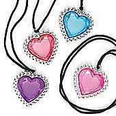 Party Bag Heart Gem Pendants (Pack of 6)