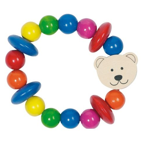 Heimess 763220 Wooden Elasticated Touch Ring (Bear)