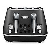 Delonghi CTI4003 4-Slice Toaster, 1800w Power, Reheat Function in Black