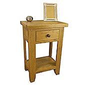 Tresco Waxed Oak Console Table / Oak 1 Drawer Hallway Table