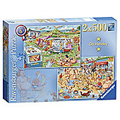 Ravensburger Best of British - The Holiday 2 x 500 Piece Jigsaw Puzzle