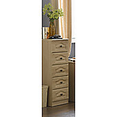 Alto Furniture Visualise 5 Drawer Tallboy Chest - Oak