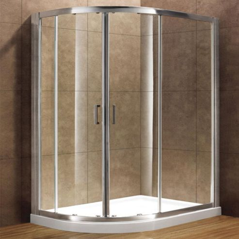 Duchy Premium Double Quadrant Shower Door, 900mm x 900mm, 8mm Glass