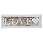 Love, Glitter Canvas 20X60
