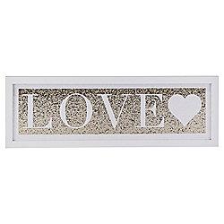 Love, Glitter Canvas 20X60