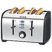Breville VTT377 Stainless Steel 4 Slice Toaster