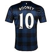 2013-14 Man United Away Shirt (Rooney 10) - Kids - Blue