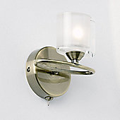 Endon Lighting Sonata Wall Light in Antique Brass