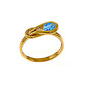 QP Jewellers 0.65ct Blue Topaz San Francisco Ring in 14K Rose Gold