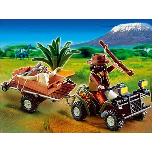 Playmobil - African Wildlife Poacher with Quad Bike and Trailer 4834
