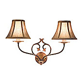Elstead Lighting Coniston Two Light Wall Bracket