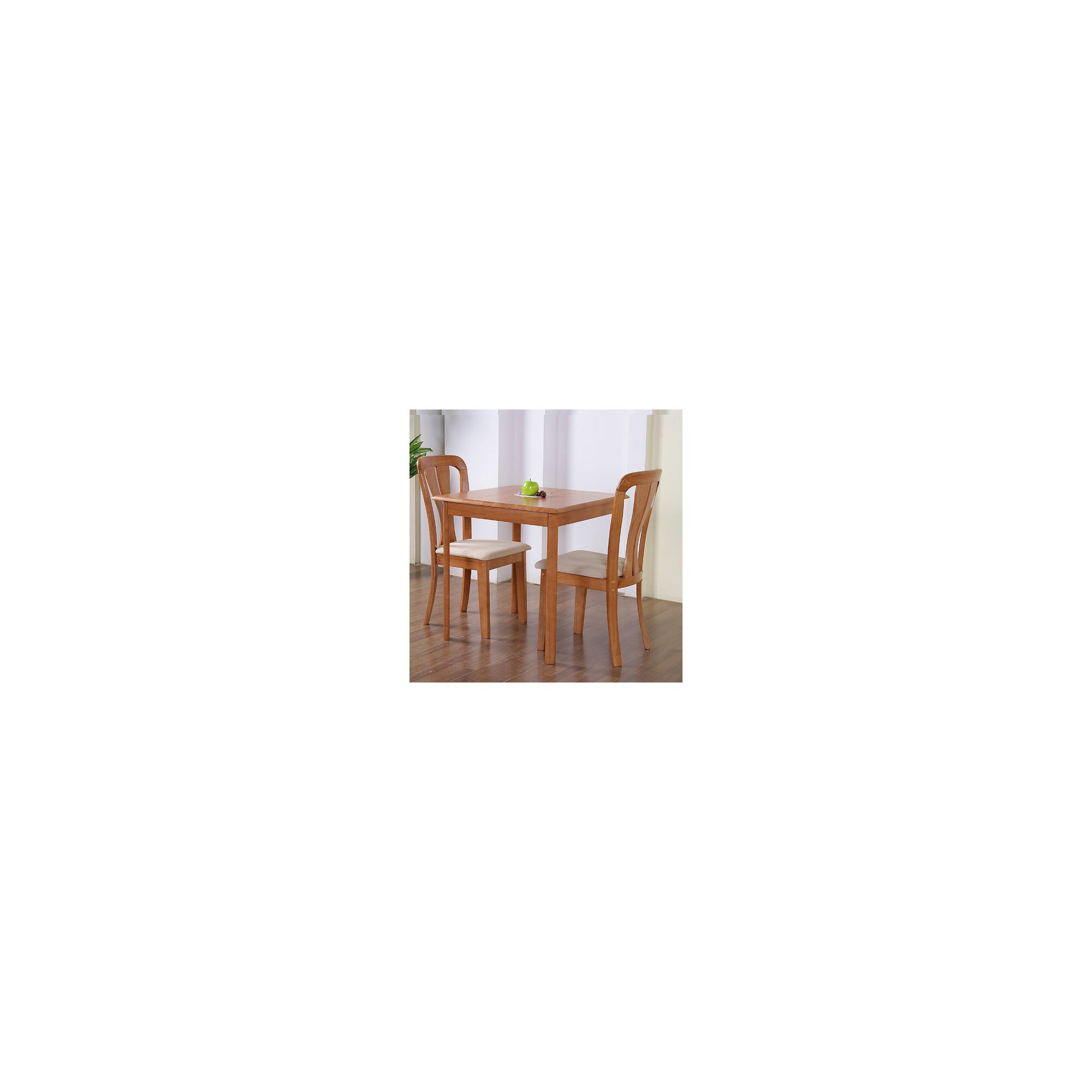 G&P Furniture Windsor House 3-Piece Derby Square Dining Set with Slatted Back Chair - Maple at Tesco Direct