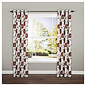 Live Poppy Floral Curtain Red 64X90