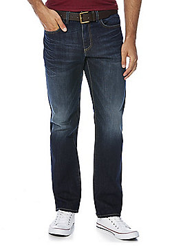 F&F Indigo Straight Leg Jeans with Belt - Indigo