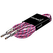 Rocket SGC6VT Vintage Tweed Instrument Cable - 6m Pink